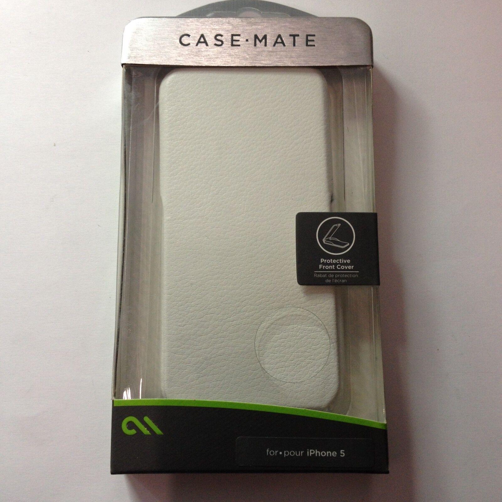 Case Mate Signature Flip Cases for Apple iPhone 5 - White -CM022840-