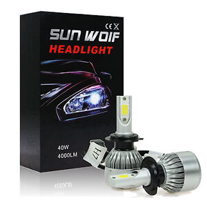 80W 8000LM H7 LED Car Headlight Kit COB CREE Scheinwerfer Lampen Licht 6K Weiß