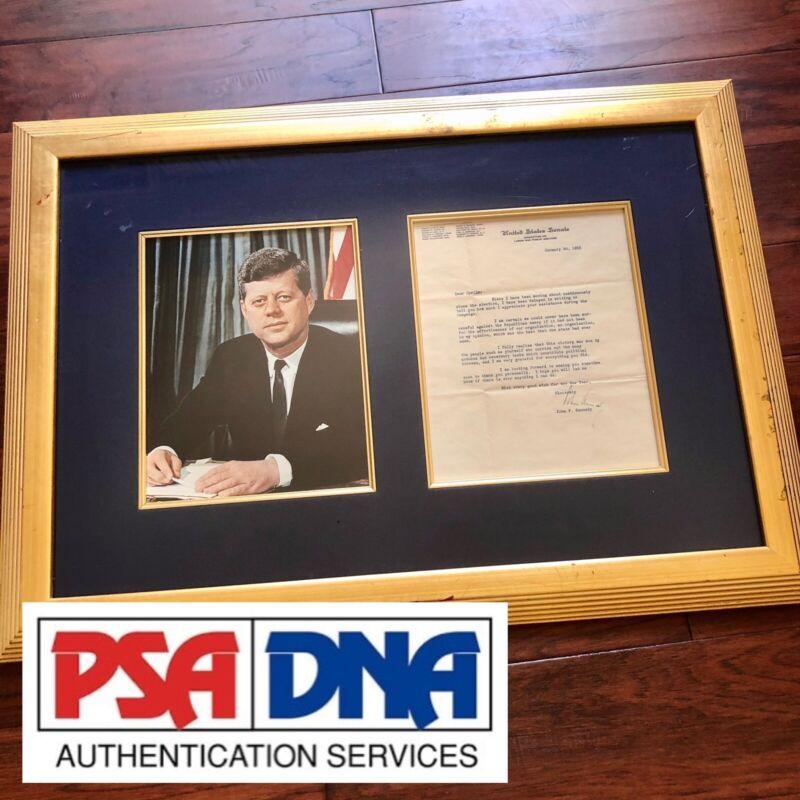 JOHN F KENNEDY * JSA LOA * Authentic Senate Autograph Letter Signed * JFK