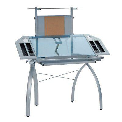 Studio Designs Futura Tower Adjustable Drafting Table Drawing Desk Silverblue