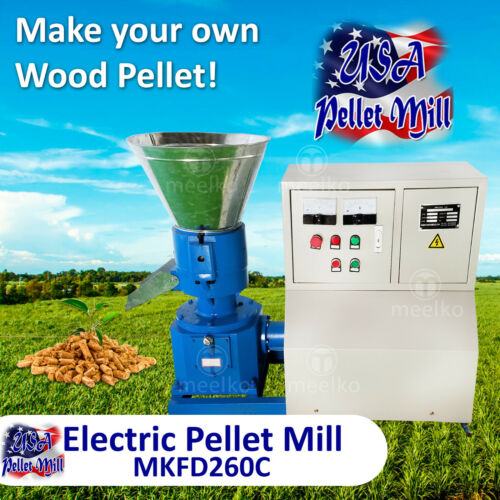 Electric Pellet Mill For Wood - MKFD260C - Free Shipping