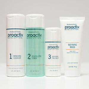 Proactiv : 4 Piece Set incl 60 Day Cleanser Toner Repair Mask