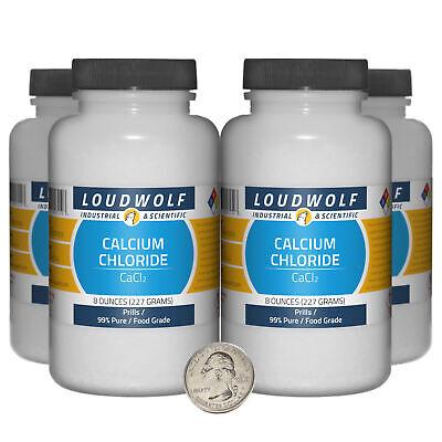 Calcium Chloride 2 Pounds 4 Bottles 99 Pure Food Grade Prills Usa