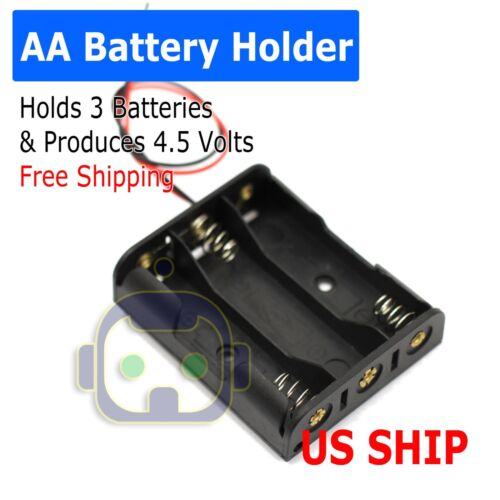 AA Battery Holder Case Box with Wire Leads for 3X Series AA Batteries 4.5V US