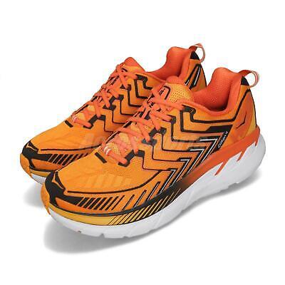 Orange Black Sneakers (Hoka One One Clifton 4 Orange Black Men Running Shoes Sneakers 1016723-SRON )