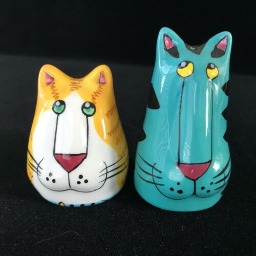 Catzilla Ceramic Cat Salt and Pepper Shakers by Candace Reiter 2000