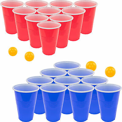 Beer Pong Set – 22 Cups and 4 Ping Pong Balls – Ultimate Fun College Party Game Indoor Games