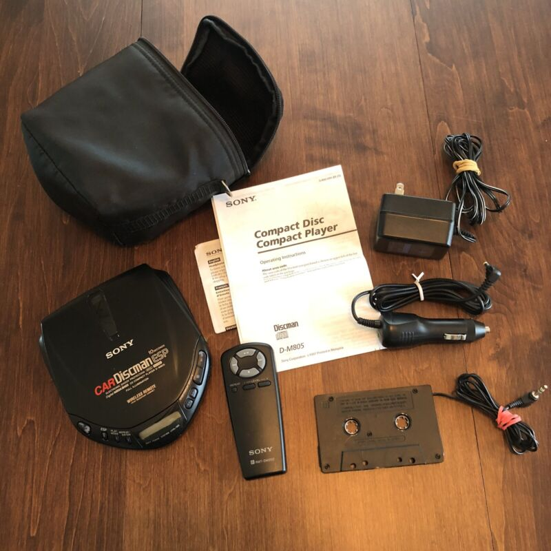Sony Discman D-M805 Portable Car CD Player TESTED With Accessories