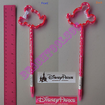 New Authentic Original Disney Pink Minnie Mouse Outline Stick Pen - Gift