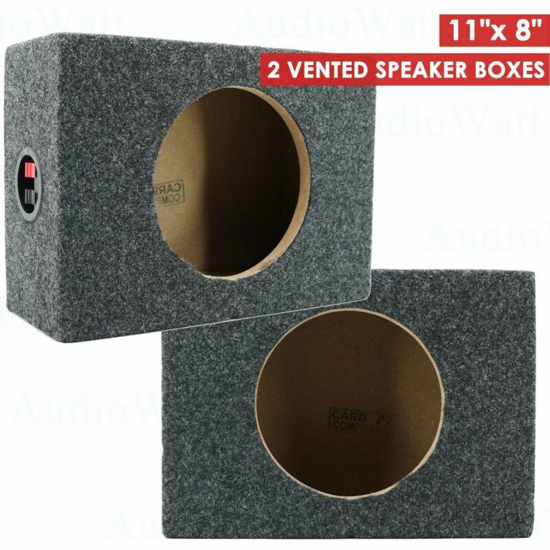 "2x CAR AUDIO 6.5"" SPEAKER BOX ENCLOSURE CARPET TEXTURE TERMINAL CUPS NEW"