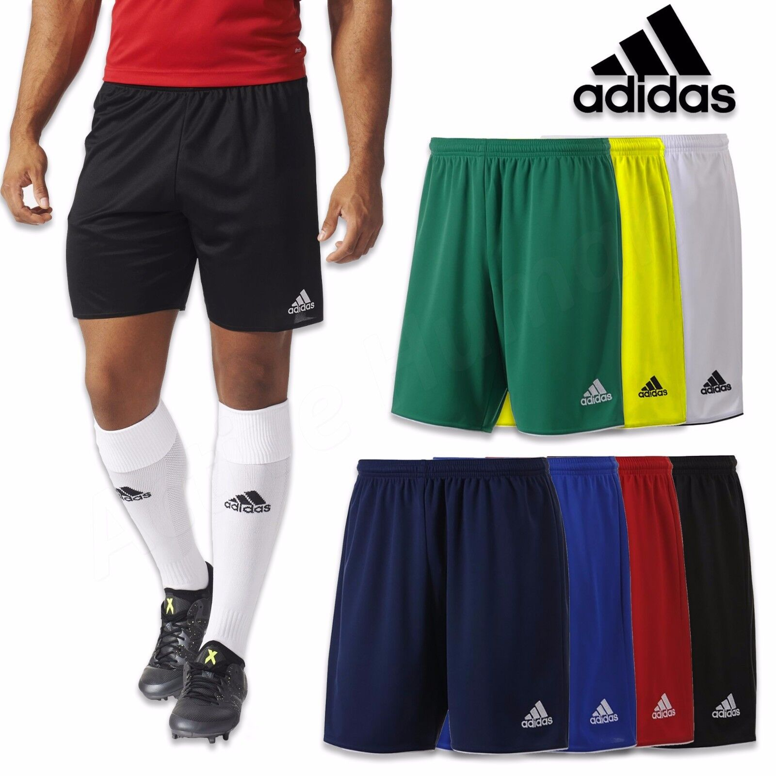 """Adidas Mens ClimaLite Force 10/"""" Training Shorts Red S M /& L"""