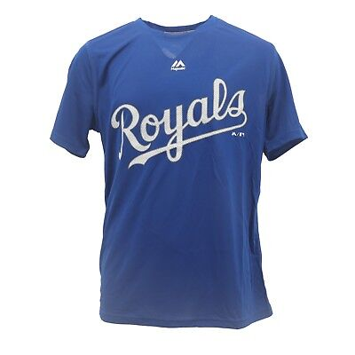 Kansas City Royals MLB Majestic Cool Base Kids Youth Size Athletic T-Shirt New