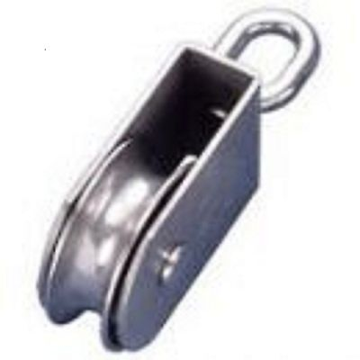 Blocks Stainless Steel Square Swivel Block 100mm - Wide Sheave