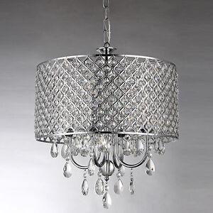 Crystal Drum Chandelier EBay - Chandelier crystals ebay