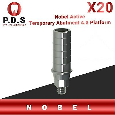 20x Dental Implant Nobel Active 4.3 Temporary Straight Abutment Screw Dentist