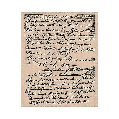 Mounted Rubber Stamp, Writing Stamp, Vintage Writing, 1700s Stamp, Background Background Mounted Rubber Stamp
