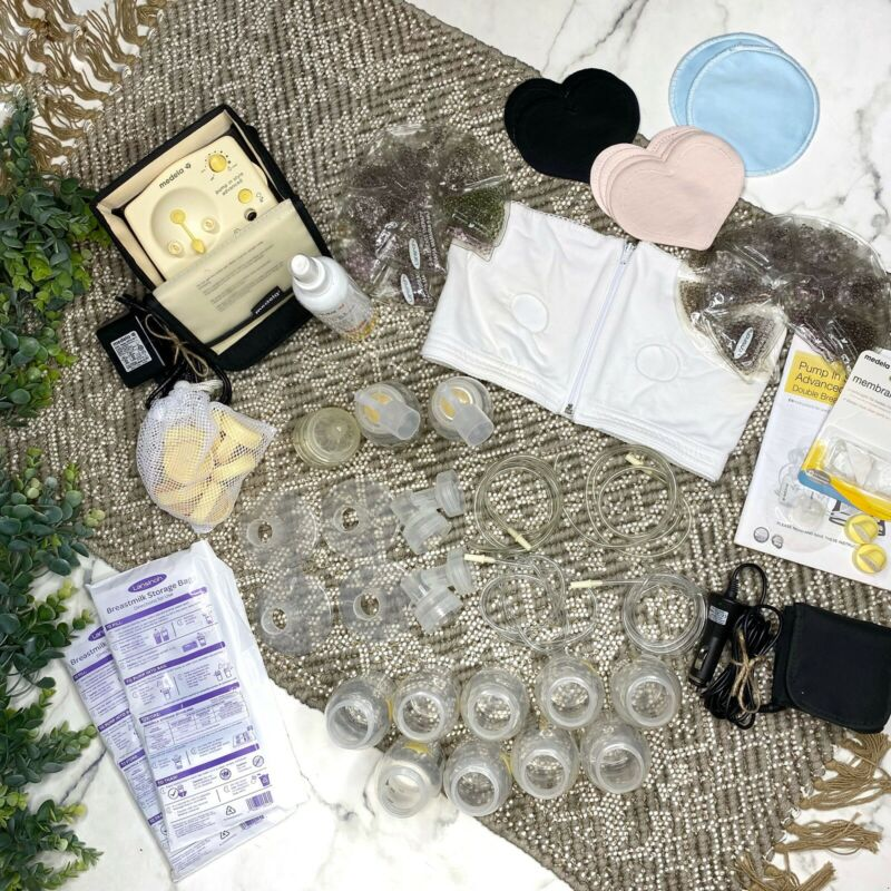 Pump-In-Style Advanced Double Electric Breast Pump + HUGE Lot of Accessories