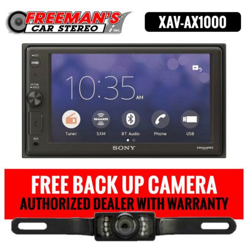 "Sony XAV-AX1000 6.2"" Apple CarPlay Media Receiver with Bluetooth and Back Up Cam"