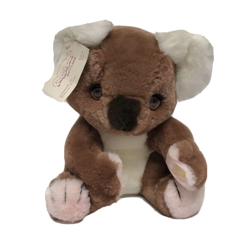 "VTG 1985 HUGGINPUFF Sleepy Eyes Koala Bear. 11"" Brown/Plush/Stuffed/No Wear/EUC"