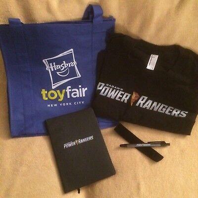 Hasbro Sabans Power Rangers New York Toy Fair Exclusive Shirt  Book   Pen Nytf