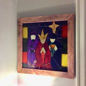 Faux Christmas Stain glass window
