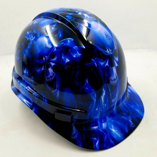 Hard Hat CAP STYLE custom hydro dipped , OSHA approved ICE SKULL LIMITED EDITION 1