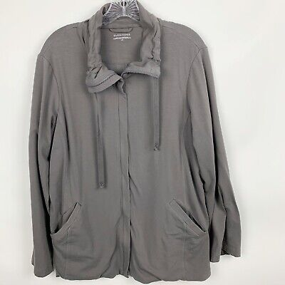 Eileen Fisher Woman's Organic Cotton Active Wear Zip-Up Jacket Large