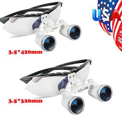 Usa Sale Black Dental Loupes Surgical Binocular Optical Glass 3.5x 420mm320mm