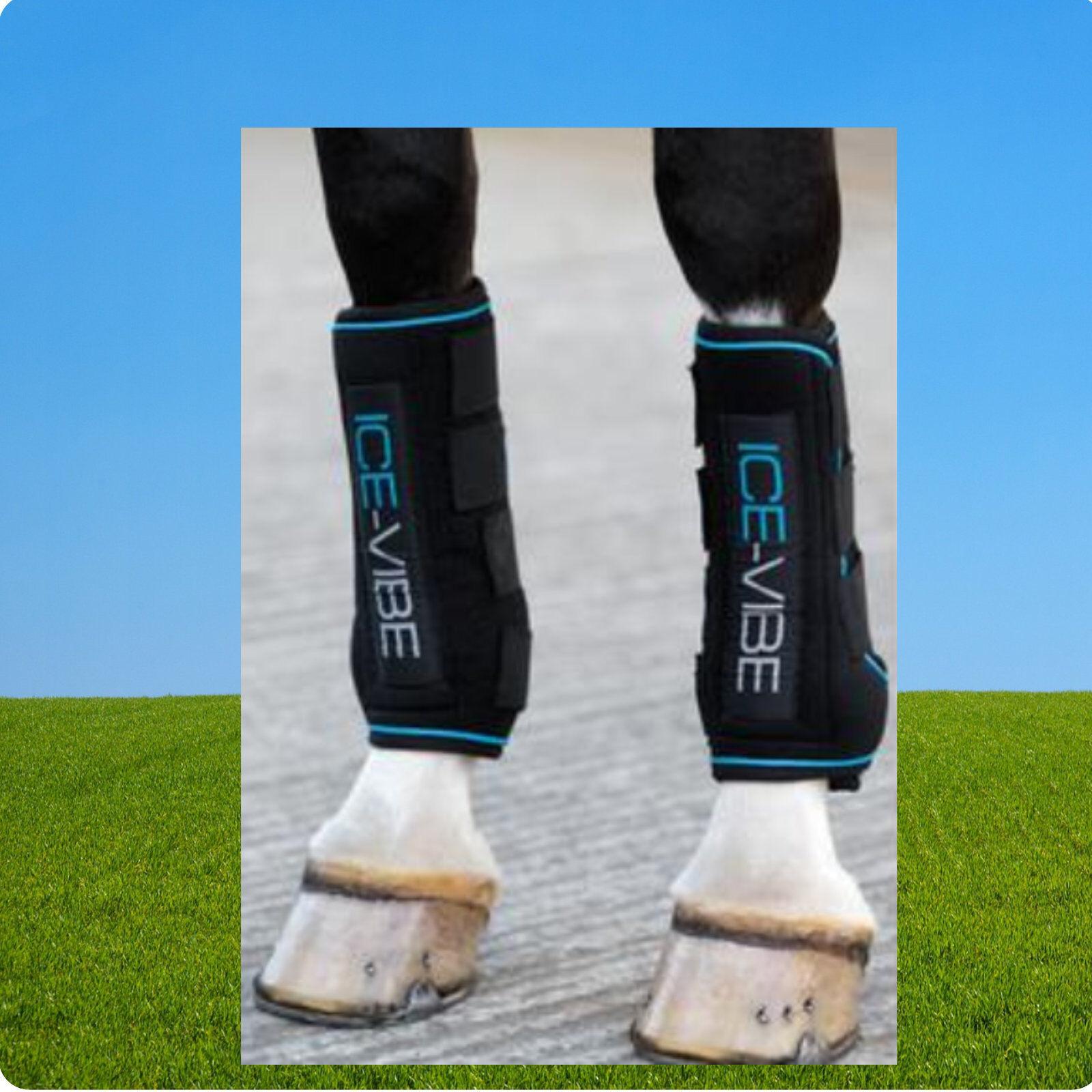 Ice-Vibe Kühlgamaschen mit Vibration, Horseware Ice Vibe Boots, Sehnenschäden