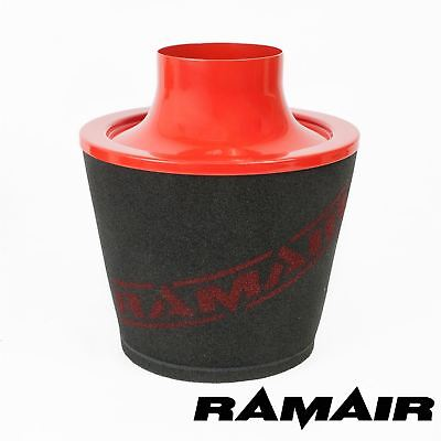 Ramair Red Aluminium Induction Foam Air Filter Universal 90Mm Od Neck