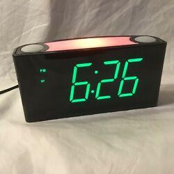 Alarm Clock - Large Number Digital LED Display, Night Light, USB Phone Charger