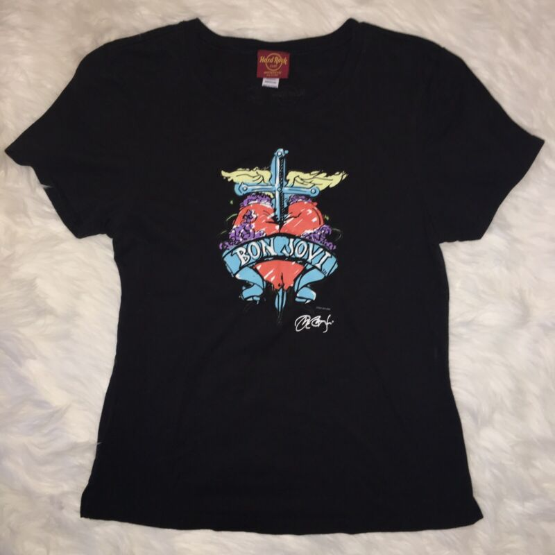 Hard Rock Cafe Women's Bon Jovi Shirt Size Medium