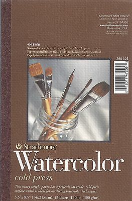 STRATHMORE 400 SERIES WATERCOLOR PAD 5.5 x 8.5 ~ NEW! - FREE SHIPPING!!