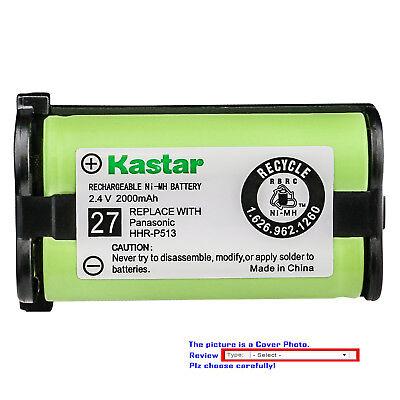 Kastar Battery Compatible with Panasonic HHR-P513 HRR-P513A/1B Cordless Battery