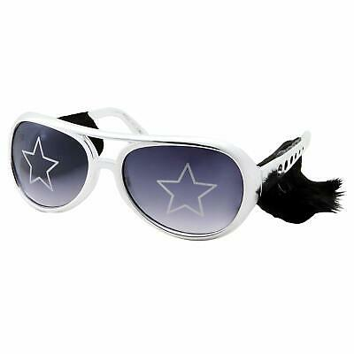 Silver Elvis Costume Sunglasses with Side Burns Adult Men's Size Presley Glasses](Elvis Sunglasses With Sideburns)