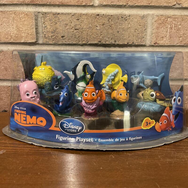 Disney Store Pixar Finding Nemo 8 Piece Figurine Set Dory Marlin Fish Pufferfish