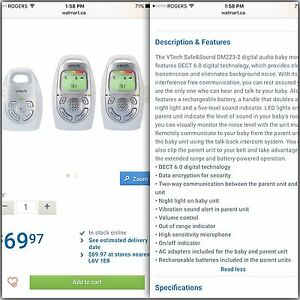Baby monitor Kitchener / Waterloo Kitchener Area image 1