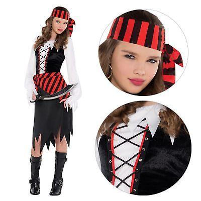 Teenager Mädchen Seeräuber Beauty Piraten Prinzessin Kostüm Kleid Buch - Teenager Mädchen Prinzessin Kostüm