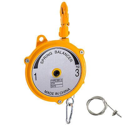 Spring Balancer Retractable Tool Holder 2-7lbs1-3kg Hanging Equipment Yellow