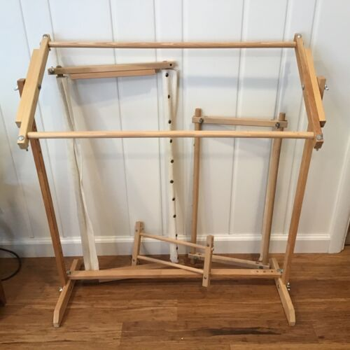 Vintage Pivoting Tapestry & Needlepoint Floor Stand with Additional Frames