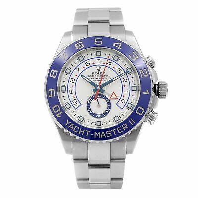 Rolex Yacht-Master II Steel Ceramic Chronograph White Dia Mens Watch 116680-0002 comprar usado  Enviando para Brazil