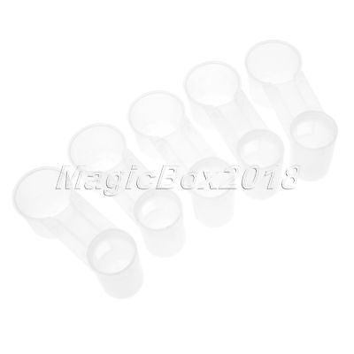 Bird Feeder Drinker Cup Water Bottle For Poultry Dove Pigeon 5Pcs White Plastic