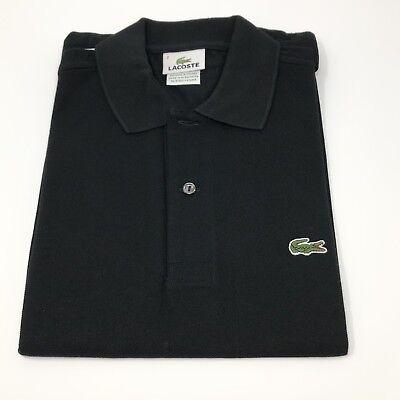 Lacoste Men's Short Sleeve Pique L.12.12 Classic Fit Polo Shirt Black Size 2