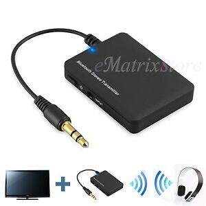 3.5mm Bluetooth Stereo Music Transmitter A2DP Audio Adapter Dongle For TV PC MP3