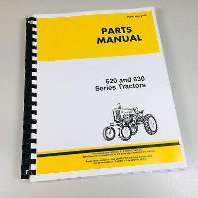 Parts Manual For John Deere 620 630 Tractor Catalog Assembly Exploded Views Book