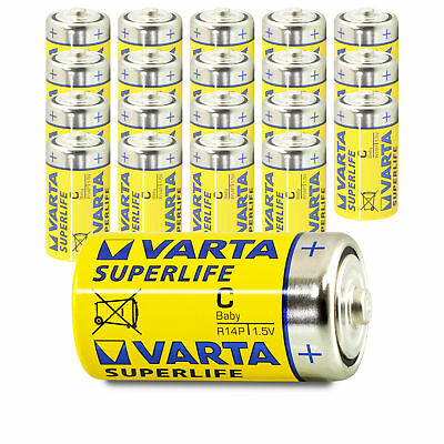 20x Varta Baby C Superlife LR14 UM2 MN1400 Batterie 1,5V Zink-Kohle 20 Stück
