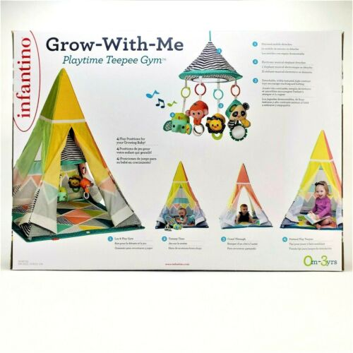 Infantino Grow With Me Playtime Teepee Baby Activity Gym Infant Toddler Toy