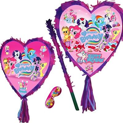 Heart Birthday Smash Pinata Girls Kids my Party Little Unicorn Poney Pony purple](My Little Pony Piñata)