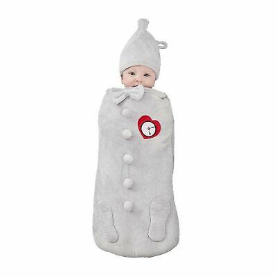 Baby Newborn Wizard Of Oz Tin Man Halloween Costume Soft Swaddle Hat 0-3 Months