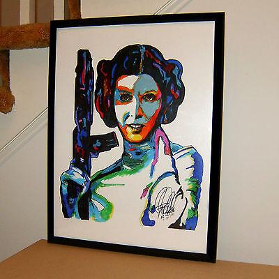 Princess Leia  Carrie Fisher  Actress  Star Wars  Alderaan  18X24 Poster W Coa